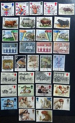 GB Stamps 1984 Commemoratives Fine Use , Complete Issues for Year  ( 8 sets )