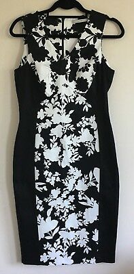 0ac1429026 George at Asda Size 10 Ladies Smart Black & White Dress With Floral Print