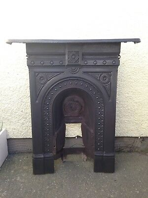 Superb Arts & Crafts Cast Iron Combination Fireplace Victorian Carron Foundry