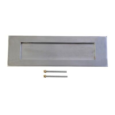 LetterPlate  letter box  Victorian Satin Chrome 307x96mm new  plate quality
