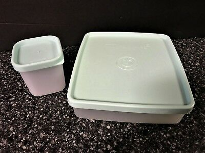 NEW Tupperware Sandwich Keeper 670 671 & condiment cont. 2066 mint green lids