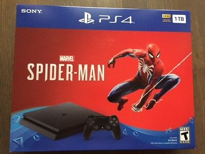 Sony PlayStation 4 Slim Marvel Spiderman Bundle - PS4 Console 1TB (US Warranty)