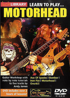 Lick Library LEARN TO PLAY Lemmy MOTORHEAD Andy James Guitar Lessons VIDEO DVD