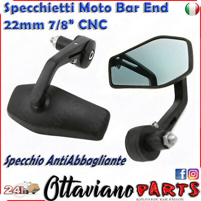 Specchietti moto manubrio Custom cafe racer universali naked bar end M5