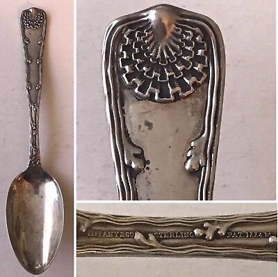 "Antique TIFFANY & CO Sterling Silver 1884 WAVE EDGE Pattern 8-1/2"" Serving Spoon"