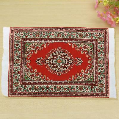 House Decoration 1:12 Miniature Rug for Doll Accessory Woven Carpet Turkish Cute