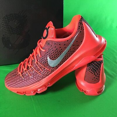 new products a6c02 7fe98 Nike KD 8 VIII Bright Crimson Red Mens Sz 11 Kevin Durant Basketball Shoes  NEW
