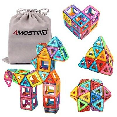 Magnetic Tiles Building Blocks Set by idoot Educational Toys for Kids 64 pcs