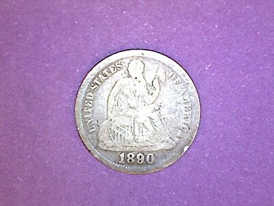 Seated Liberty Dime - 1890 - KM# A92