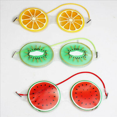 Fruit Ice Gel Eye Mask Sleep Well Eye Fatigue Relief Cooling Makeup Tool B