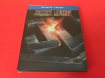 Justice League Blu-Ray Steelbook Extremely Rare Embossed Edition from Korea