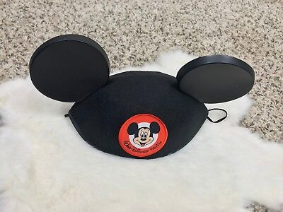 f9df50d8169 WALT DISNEY WORLD Mickey Mouse Ears Hat Classic Black Park Authentic ...