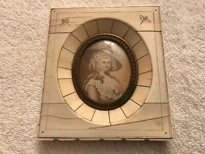 Fine Antique Portrait Miniature Painting lady