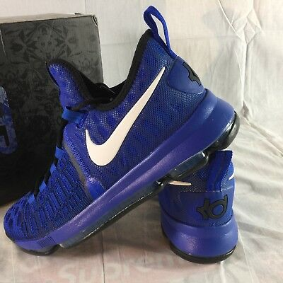 78707336d68e4e Nike Zoom KD 9 Men s Size 10 Kevin Durant Basketball Shoes Blue Black NEW  in Box