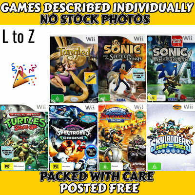 Nintendo Wii 💚💛 G & PG  POPULAR CHARACTERS - L to Z 💛💚09/12 *SOME SEALED*