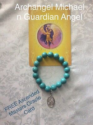 Code 885 Archangel Michael Turquoise Infused Bracelet FREE Ascended Masters Card