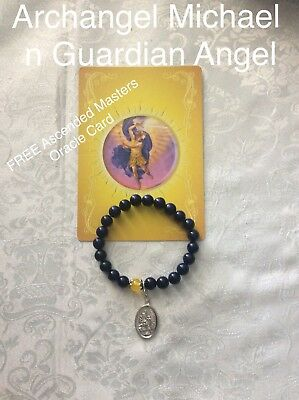 Code 885 Lapis Lazuli Archangel Bracelet FREE Ascended Masters Oracle Card