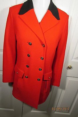 St. John Collection Jacket, 8, Boucle Knit, Double breasted, Red with black