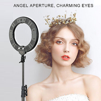"14"" LED Dimmable Ring Light with Stand for Photography Makeup live Phone Camera"