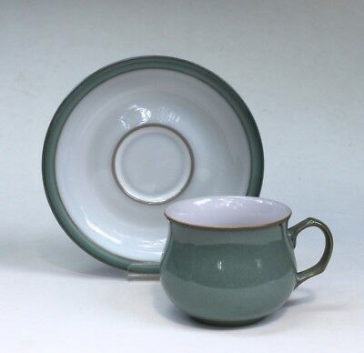 Denby/Langley Pottery Regency Green Tea/Coffee Cup and Saucer, never used