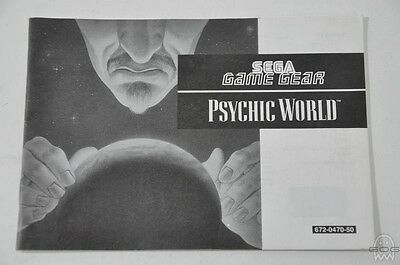 Official Instruction Manual - PSYCHIC WORLD - Game Gear - Sega