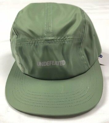 Undefeated Sage Green 5-Panel Hat Cap Brand New 3M Strap Camp DSWT 08e8831a62fe
