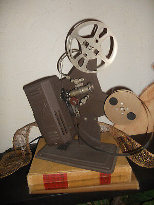 EXCEL reel to reel Movie Projector 16 MM P-19 with 8 movies tested it work