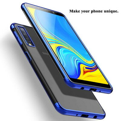 For Samsung Galaxy A6 A7 A9 2018 J4 J6 Luxury Plating Clear Soft TPU Case Cover