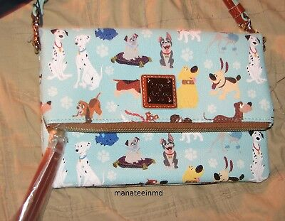NEW 2017 Disney DOGS Dooney & Bourke Blue Crossbody Foldover Purse NWT