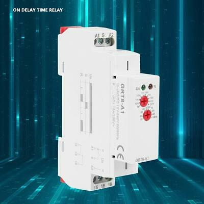 GRT8-A1 AC/DC 12-240V 50-60Hz Mini Power On Delay Time Relay 35mm DIN Rail Type