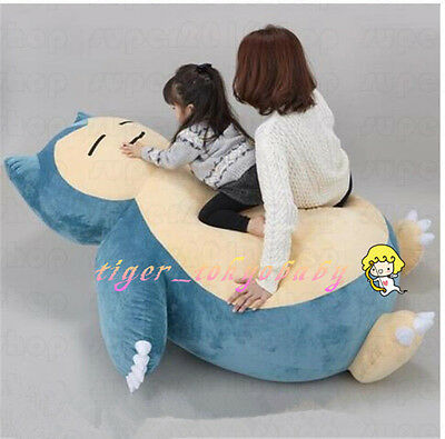 """59"""" Giant Big Snorlax Plush Toys Doll Pillow Bed Case Without Filler Kids Gift"""