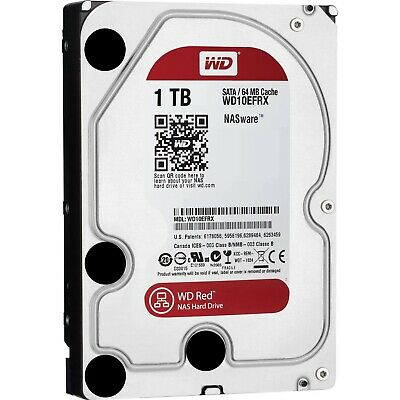 "Western Digital WD Red 1TB HDD 3.5"" SATA 5400RPM 64MB Internal Hard Drive PC"
