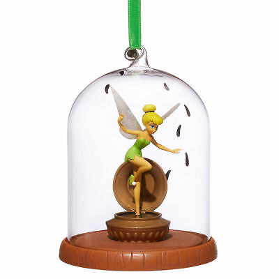 Christmas Tinkerbell.Disney Store Tinkerbell Glass Dome Christmas Ornament Peter Pan Gift New