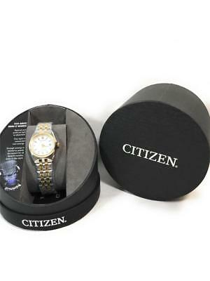 Citizen Eco-Drive Women's Crystal Accent Two Tone Wrist Watch, ew2294-53a, Corso