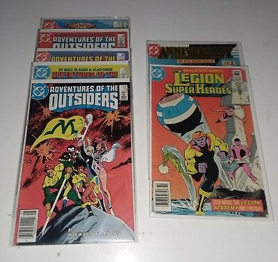Adventures of The Outsiders Comic Lot + Superboy Legion