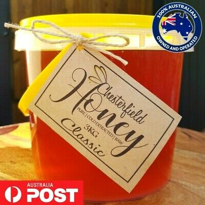 100% Raw Australian Honey Organic 3kg - Direct from the Beekeeper