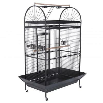 Large 178cm Metal Caesar Parrot Cage Aviary Rectangular Bird Shelter With Wheels