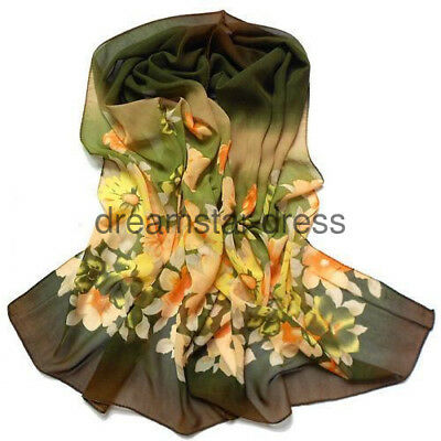 Hot Lady women long Green Yellow soft cotton Scarf Wrap Shawl scarves fashion
