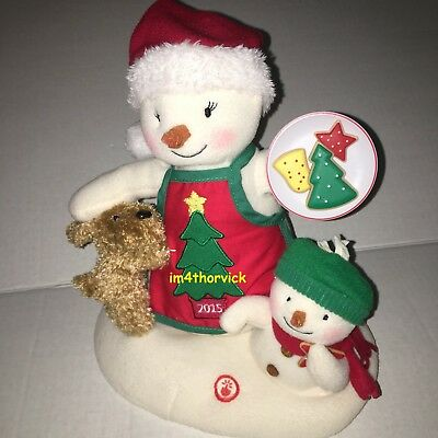 Hallmark 2015 Time For Cookies - Snowman and Puppy Dog Jingle Pals Plush No Tag
