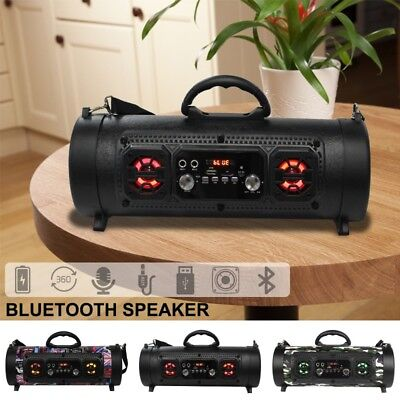Portable Bluetooth Wireless Fashion Speaker Power FM Radio/MP3 Player Deep Bass
