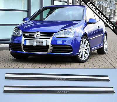 VW Golf R32 Mk5 (05 to 09) 2 Door Stainless Steel Sill Protectors / Kick Plates