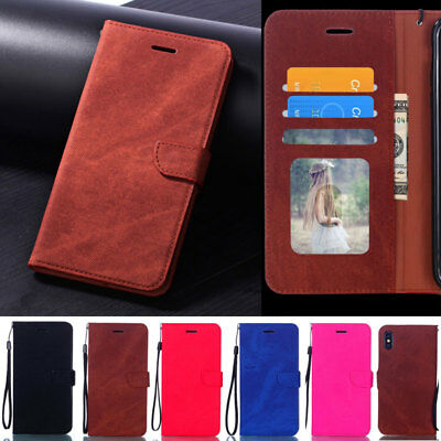 Slim Photo Wallet Leather Flip Case Cover For iPhone XS Max XR 6 6S 7 8 Plus X
