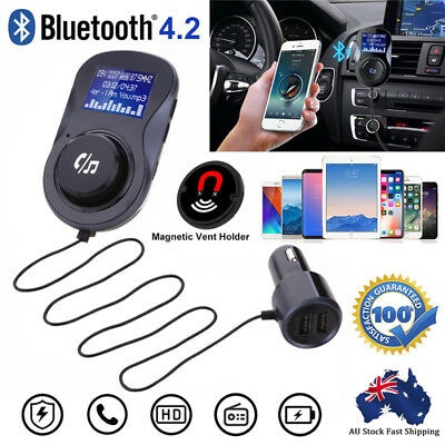 Wireless Handsfree Bluetooth Car MP3 Kit FM Transmitter Radio Player USB Charger