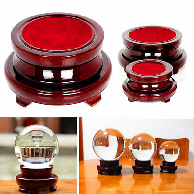 Vintage Base Wooden Display Stand Parts For Crystal Ball Sphere Stone Office HOT