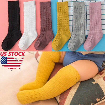 Baby Toddler Girls Knee High Socks Tights Leg Cotton Warmer Stockings For 0-3Y