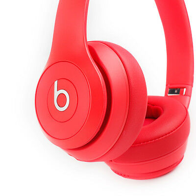 Beats by Dre Solo3 On-Ear Bluetooth Wireless Adjustable Headphones - Red