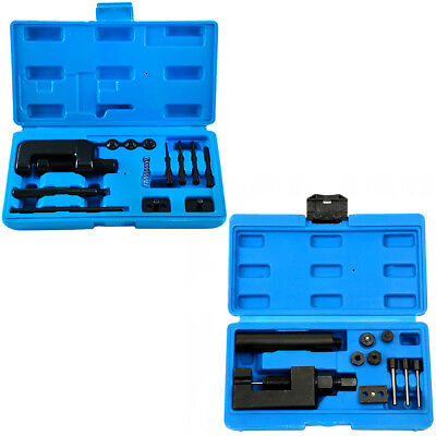 Motorcycle Drive Chain Breaker Riveter Tool Chain Cutter Kit 500 520 525 530 630