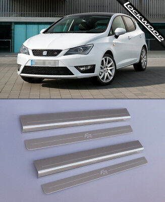 Seat Ibiza FR (2008 - Early 2017) 4 Door Stainless Sill Protectors / Kick Plates