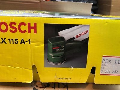 BOSCH PEX115A-1 Multi sander round new other wood sanding boxed+ packet of discs