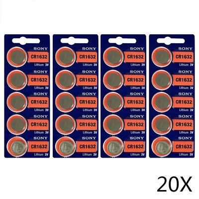 20pcs Sony CR1632 CR 1632 3V Coin Cell Button Battery USA STOCK FAST SHIPPING